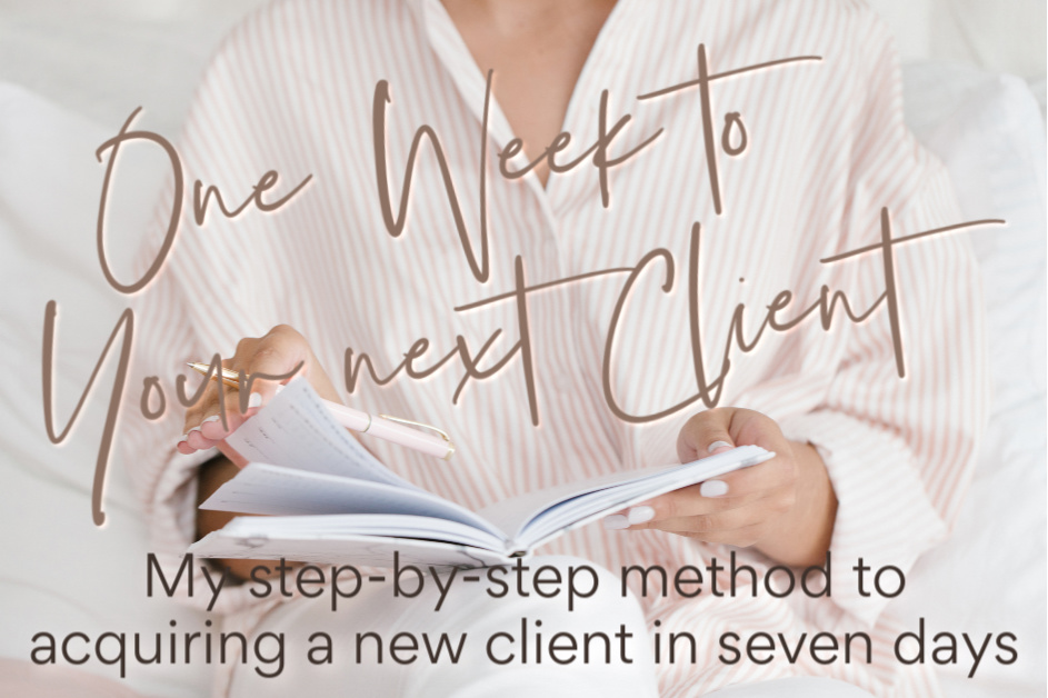 Woman planning her next client campaign